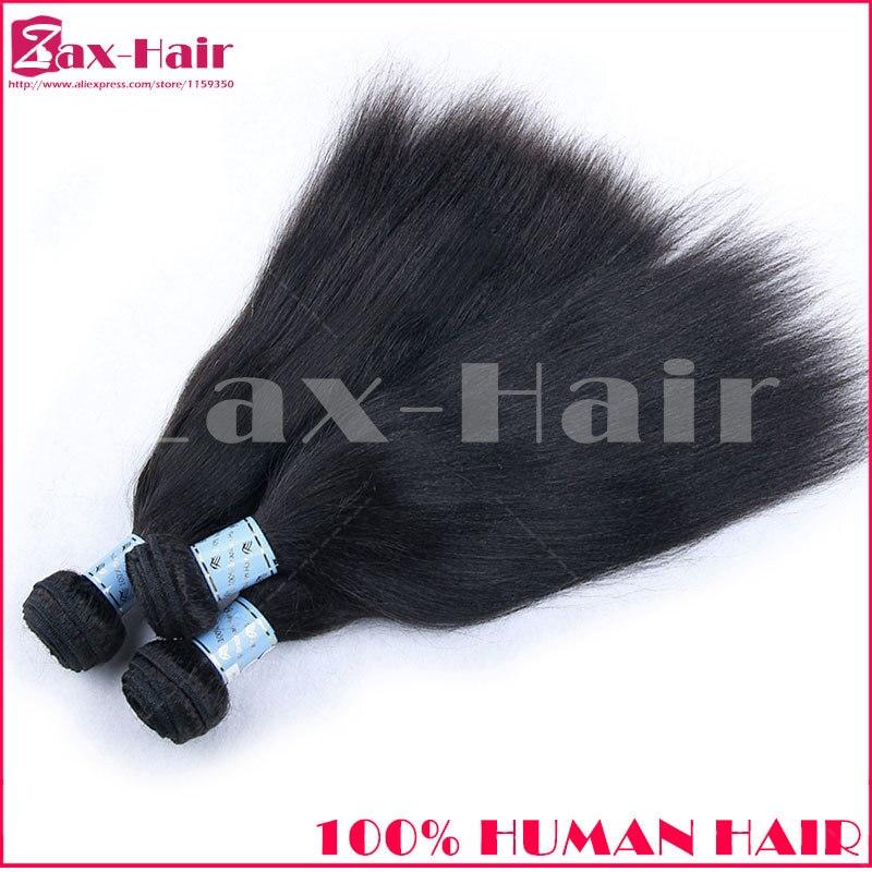 Brazilian Virgin Hair Straight Italian Yaki 3pcs/lot Brazilian Straight Hair For Black Women Hair Extension Weft Soft 7A Quality<br><br>Aliexpress