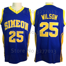 2018 Simeon High School Basket Jerseys #25 Ben Wilson Jersey Vintage Throwback Basketball Jerseys Vintage Stitched Men Shirts(China)