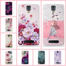 TPU Gel Soft Case for Lenovo A1000 A2800 Case 3D Flowers Painted Phone Skin Case Cover For Lenovo A 1000 2800 fundas coque