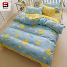 Sookie 3 Pieces Bedding Sets for Girls Sunny Rain and Eggs Queen/King Size Duvet Cover Set Pillow Cases Comforter Covers(China)