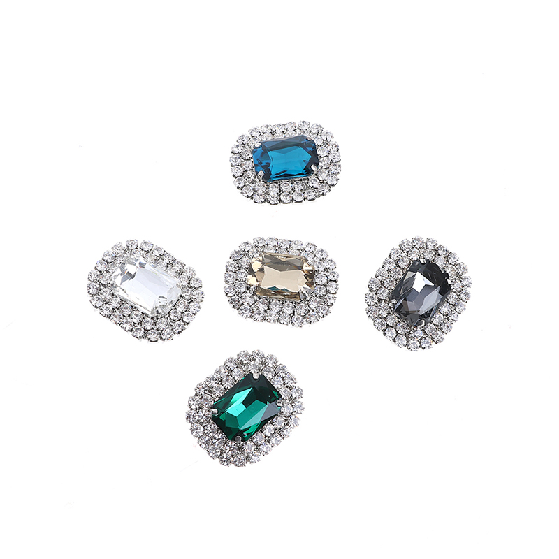 10 Colors Metal Rhinestone Shoes Buckle Clip Fashion Shining High-Quality Shoe Clips Decoration