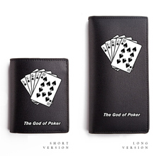 Poker Design Wallets for Boys and Girls PU Purse Long Short Cateira(China)