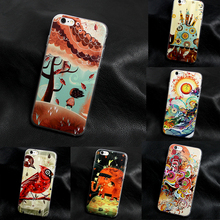 Soft Silicone Paper-cut style Cover Case For Apple iPhone 4 4s 5 5s 5c SE 6 6s plus TPU coque fundas art print Crystal Soft