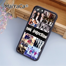MaiYaCa 1D Band One Direction Boys Soft Rubber cell phone Case Cover For iPhone 6 Plus and 6S Plus phone cover shell(China)