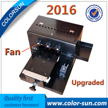 2017 hot No Coating Automatic A4 UV flatbed Printer for print golf phone case Tshirt
