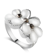 F&U Unique Design Fashion Korea New Arrival Products Silver Color Flower Shaped Ring for Women