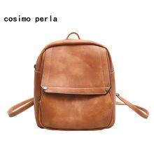 7a50f2088843 Mini Black Backpack for Girls Korean Small Backpacks Women 2018 PU Vintage  Fashion Brown Leather Rucksacks Purse Travel Mochilas