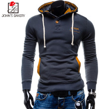2017 New Autumn Winter Male Hoodies Sportswear Fashion Patchwork Solid Color Hoodies Men Slim Fit Casual Sweatshirts With Hoody(China)