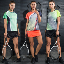 LYNSKEY Women Tennis Shirt Set Badminton Clothing Table Tennis Clothes Breathable Sports Shirt+Tennis Skirt Suit