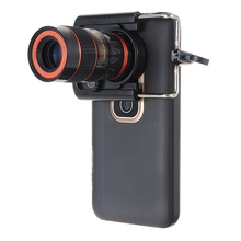 8X Zoom Optical Phone Telescope Lens Universal For iPhone For Samsung Mobile Smart Lens With Universal Clip Portable Black