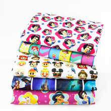 David accessories 50*145cm Cartoon patchwork Polyester cotton fabric for Tissue Kid Bedding home textile for Sewing Tilda,1Yc390(China)