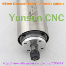 4pcs bearings!Air Cooled Cooling Spindle motor 800W 0.8KW 1HP ER11 collet 65mm diameter for 3040 4060 CNC Router