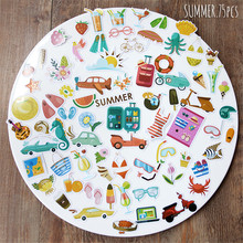 NEW! 75pcs/pack Summer Series Decorative Pre Die Cut Stickers for DIY Scrapbooking Planner/Card Making Craft