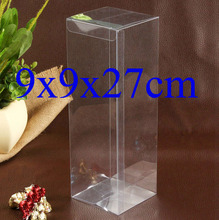 9*9*27cm Wholesale  PVC Clear Rectangle Packing Box Custom Box Packing Cosmetic/Small Souvenirs/Candy/Pencil/Toy 20pcs=1Lot