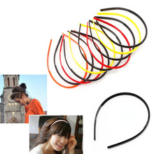 New 10pcs 4mm Plastic Candy Colors Teeth Headband Skinny Thin Hair Band Hairpin