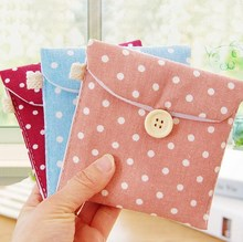 1Pcs Clean Ladies' Bag Women Small Great Hand Feel Delicate Storage Bag New Short Cotton 5 Colors Convenience(China)