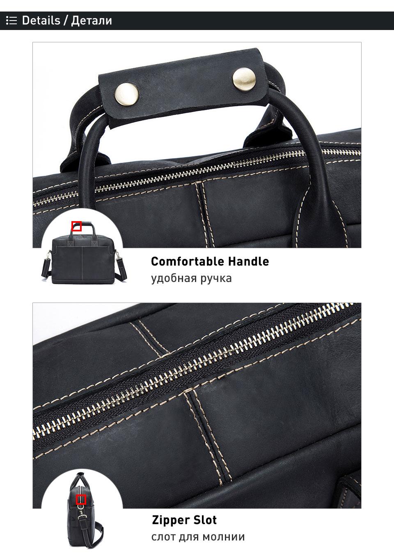 6 genuine leather men bag briefcase