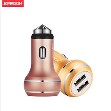 Joyroom Original Universal Car Charger Dual Port USB output 2.1a max Mobile Phone Fast Charging Adaptor(China)