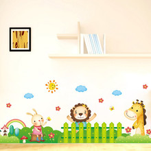 DIY Removable Room Home Decor Cartoon Animal Wall Stickers Giraffe Decal Cartoon Animal Wall Stickers Butterfly Decal new nice
