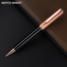 High quality MONTE MOUNT Black and rose gold financial Ballpoint Pen Special pen Multi-color with gift school office supplies(China)