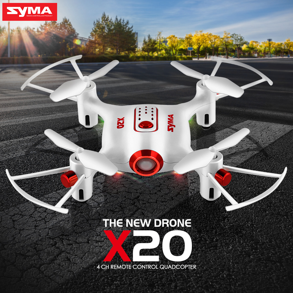 Syma X20 Pocket Drone RC Helicopter 6-aixs Gyro 2.4G 4CH Remote Control Toys RC Quadcopter Aircraft Mini Dron Without Camera