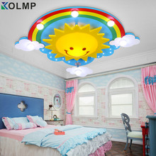 lovely cartoon ceiling light child personality led lighting baby girl bedroom decor lighting led bulb green wood&glass made 220V