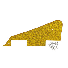 FLEOR LP Guitar Pickguard Scratch Plate 1Ply & Screws for LP Style Guitar ,Sparkle Golden(China)