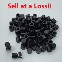 100pcs/lot Black Plastic Cap Hat G62 for 6*6mm Tactile Push Button Switch Lid Cover Free Shipping(China)