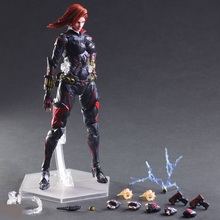 27cm The Avengers Age Black Widow Play Arts Kai PVC Action Figure Toys Collectors Model With Box