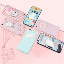 Buy Jderv Lovely 3D Silicone Squishy Phone Bag Case iPhone 7 Cover Coque Cute Cat Animal Soft Fundas iPhone 7 6 6S 5 5S SE for $1.47 in AliExpress store