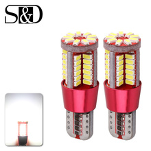 T10 W5W 194 White Canbus OBC Error Free Car Bulb LED Light Interior Map Read Door License Plate Auto lamps 3014 SMD 57 Chips 12V(China)