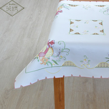 Special Sales Clearance Luxury 85cm Square Handmade Cutwork Satin Embroidered Tablecloth