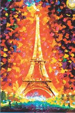 Eiffel Tower Fluorescent paper puzzle 1000 pieces Noctilucent jigsaw puzzles 1000 for adults kids' 1000 piece jigsaw puzzles(China)
