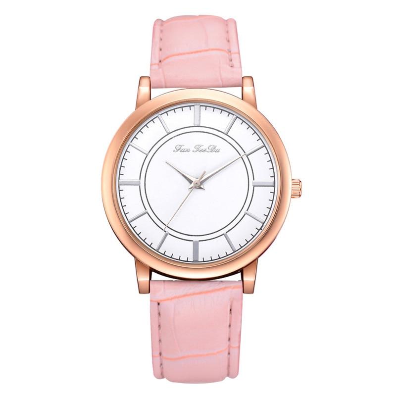 2018 High Quality women fashion casual watch luxury dress ladies  Analog Quartz Leather bands Wrist Watch clock Relogio Y11 (9)