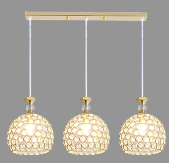 Modern simple restaurant pendant lights creative crystal bar desk ...