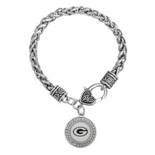 Skyrim Crystal Oval Football Triangle 3 Styles Green Bay Packers Enamel Bracelet Jewellery