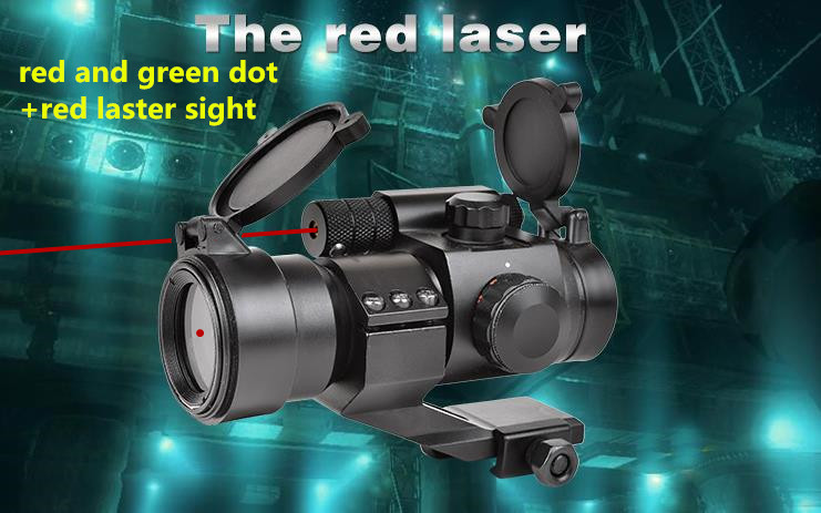 New M2 caza red and grenn dot sight +red laser sight Riflescopes gunsight for hunting bird watching air shotgun<br><br>Aliexpress