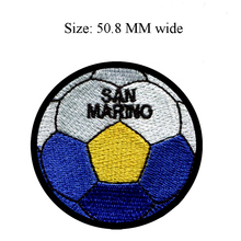 50.8MM wide San Marino flag patch of soccer ball football shipping to for clothes iron patches/iron on transfer/sewing supplies(China)