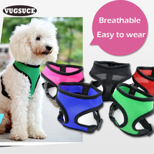 VUGSUCE Vest Dog Harness Training for Chihuahua Puppy Cats Soft Mesh Pet Harness for Large Dogs Nylon  Personalized Chest Strap