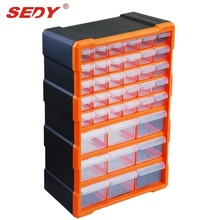 39 Drawers Storage Cabinet Tool Box Chest Case Plastic Organizer Toolbox Bin
