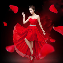2018 New Arrival Bridesmaid Dresses For Wedding Party Red Elegant Fashion  Women Formal Dress Sweetheart Pleat 8f4dc7595112