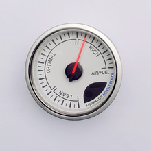 60MM White Face Air fuel ratio gauge with peak function/Air fuel Meter / Air fuel Sensor/Car Meter/Auto Gauge(China)