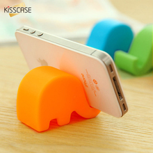 KISSCASE Universal Desk Phone Holder Cute Elephant Animal Candy Color Desk Phone Stand Holder For iPhone 5 5S 6 6S 7 Samsung S8