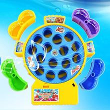 Hot Electronic Toy Magnetic Fishing Toy Fishing Game Muscial Plastic Fish Board Games Parent-Child Interactive Educational Toy(China)