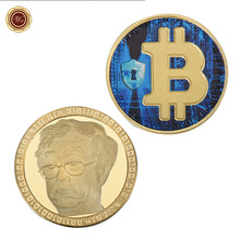 Buy WR Colored Bitcoin Challenge Coin Commemorative Golden Coin 24k Gold Plated Bitcoin Capsule Business Gifts for $2.85 in AliExpress store