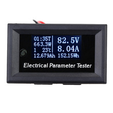 7-in-1 Electrical Parameter Meter Multifunctional Power Meter OLED Voltage Current Time Power Energy Capacity Temperature Tester