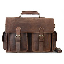 Tiding cattle fashion vintage 2013 13 computer genuine leather man bag briefcase 1088(China)