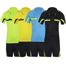 LumiParty Breathable Quick-Dry Football Wear Set Short-Sleeve T-Shirt Shorts Referee Clothing Professional Soccer Sports Wear(China)