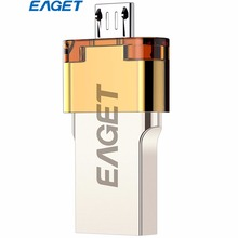 Eaget USB Flash Drive 64GB OTG USB 3.0 Pass H2 Test Pendrive External Storage U Disk For Smart Phone Tablet PC Free Shipping(China)