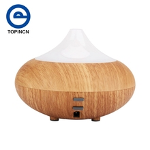 Ultrasonic Humidifier Essential Oil Diffuser Wood Grain Ultrasonic Aroma Cool Mist Humidifier for Office Bedroom Baby Room Study(China)